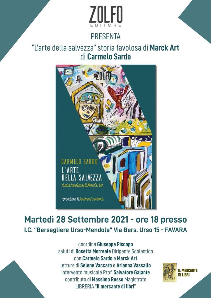 """Presentazione del libro """"L'arte della salvezza"""" scritto da Carmelo Sardo"""